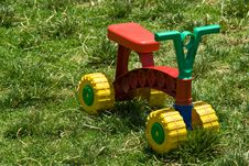 Free Kid Roller On Grass 1 Stock Photos - 5436533