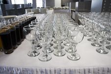Goblets And Glasses Royalty Free Stock Image