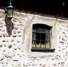 Free Window On The Stony Wall Stock Image - 5436911