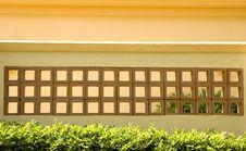 Yellow Stucco And Blocks Stock Photo