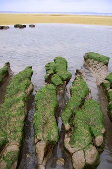 Free Green Rocks 1 Royalty Free Stock Image - 5437076