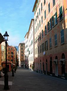 Free Narrow Street In Italy Stock Image - 5437321