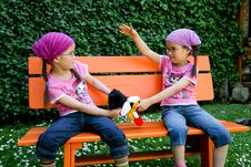 True Twins Stock Images