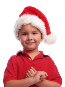 Free Cute Santa Boy Royalty Free Stock Images - 5438019