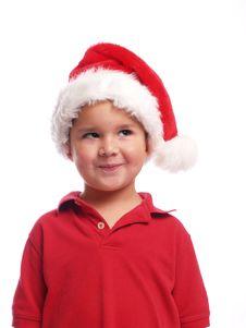Free Cute Santa Boy Stock Photos - 5438033