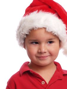 Free Cute Santa Boy Stock Images - 5438044