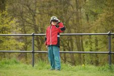 Free Boy Observing Nature Stock Photography - 5438092