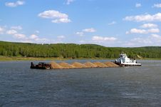 A Barge Royalty Free Stock Photography