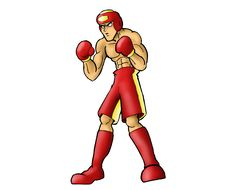 Isolated Boxer In Red Royalty Free Stock Photo