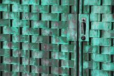 Free Oxidized Woven Copper Gate Stock Photo - 5439520