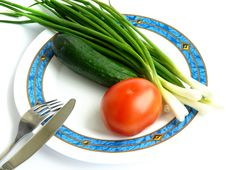 Free Plate With Vegetables Royalty Free Stock Images - 5439569