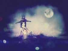 Free Night Witch Stock Photography - 54379142