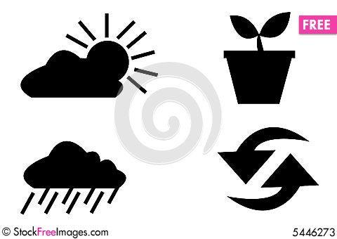 Free Vector Logo Elements Set Envir Stock Photos - 5446273