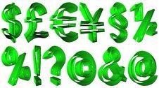 High Resolution 3D Symbols Stock Photo