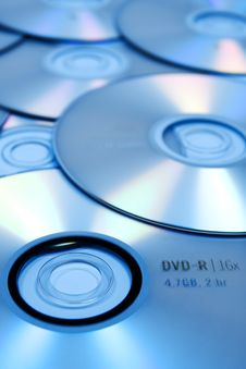 Free Blue DVD S Background Royalty Free Stock Photography - 5440187