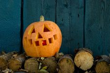 Free Halloween - Orange Pumpkin Stock Photo - 5440410