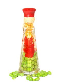 Free Corn, Pepper And Peas Royalty Free Stock Photos - 5440778