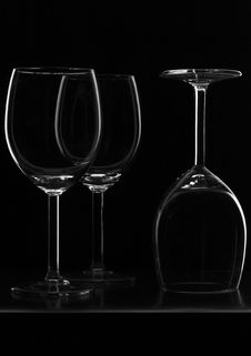 Free Outlines Of Three Glass Stock Image - 5441051