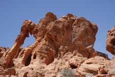 Free Elephant Rock Valley Of Fire, Nevada Stock Image - 5441331