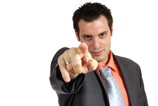 Free Man Pointing Finger In The Camera Stock Photography - 5441502