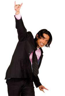 The Winning Business Man Stock Photo