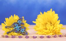 Free Flowers And Jewelry Stock Photography - 5442552