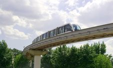 Monorail Track Royalty Free Stock Photography