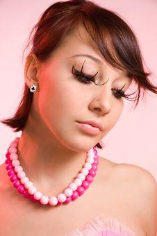 Free The Girl With False Eyelashes Royalty Free Stock Image - 5443386