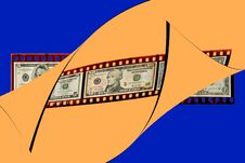 Free Film Strip With Money Royalty Free Stock Photography - 5443917