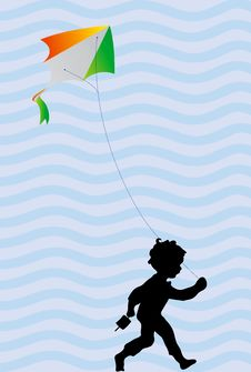 Free Woman And Kid With Tricolor Balloons Royalty Free Stock Photography - 5444687