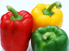 Free Three Peppers Royalty Free Stock Photography - 5444737