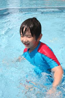 Boy At The Pool Royalty Free Stock Photography