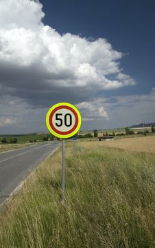 Free Speed Limit 50 Stock Photos - 5445813