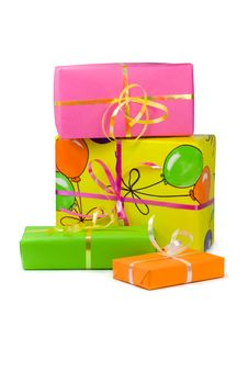 Free Colored Gift Boxes Stock Photos - 5446003