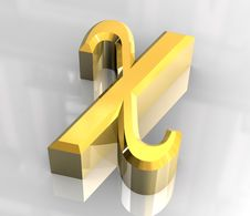 Free Chi Symbol In Gold (3d) Royalty Free Stock Images - 5446269