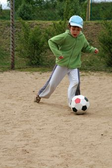 Free Girl And Football Royalty Free Stock Photo - 5446895
