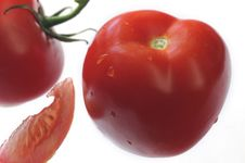 Free Tomato Close-up  With Slice Royalty Free Stock Photos - 5447118
