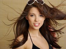 Free Portrait Of Summer Woman Royalty Free Stock Photos - 5447678