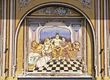 Shekhawati Fresco Stock Images