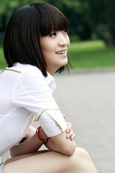 Free A Chinese Girl In Summer . Stock Photography - 5448342