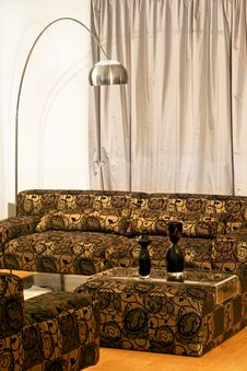 Free Golden Settee Royalty Free Stock Image - 5449256