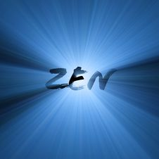 Free Zen Word Symbol Light Flare Royalty Free Stock Photo - 5449285