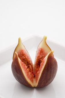 Fresh Fig Fruit On White Plate Stock Photography