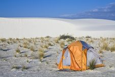 Free Camping In White Dunes National Monument Stock Image - 5449971