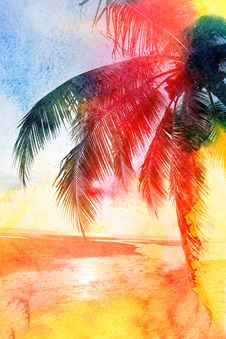 Free Abstract Tropical Landscape Stock Photography - 54413662