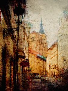 Panoramic Image Of Prague Royalty Free Stock Photos