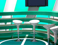 Free Furniture For A Bar In Green Tones Stock Photography - 5450712