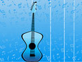 Free Guitar On Musical Background Stock Photo - 5450930
