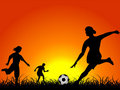 Free Football Players Royalty Free Stock Photos - 5453198
