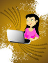 Free Lady With Laptop Stock Photos - 5453323